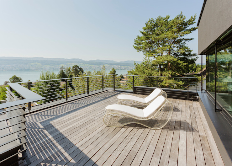 Modern Terrace by meier architekten zürich Modern Wood Wood effect