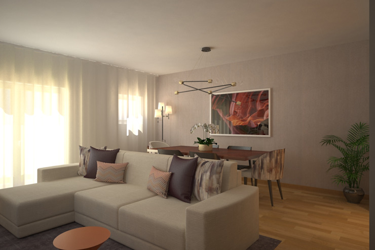 LIVINGROOM Salas de estar modernas por Red Centre - Interiors Harmony, by Design Moderno