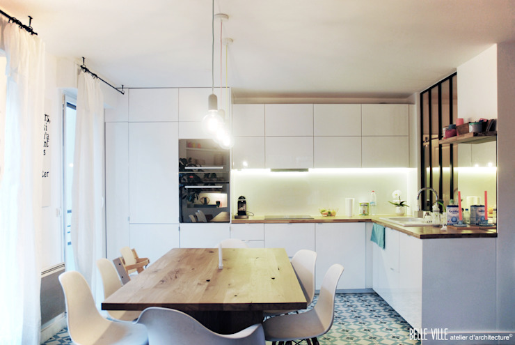 Belle Ville Atelier d'Architecture Scandinavian style kitchen