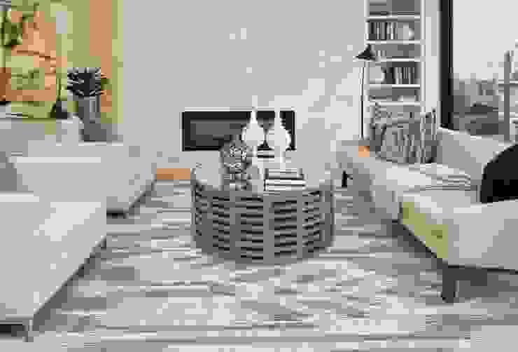 Tapete moderno para sala. por ATLANTIKHEROES Moderno Lã Laranja
