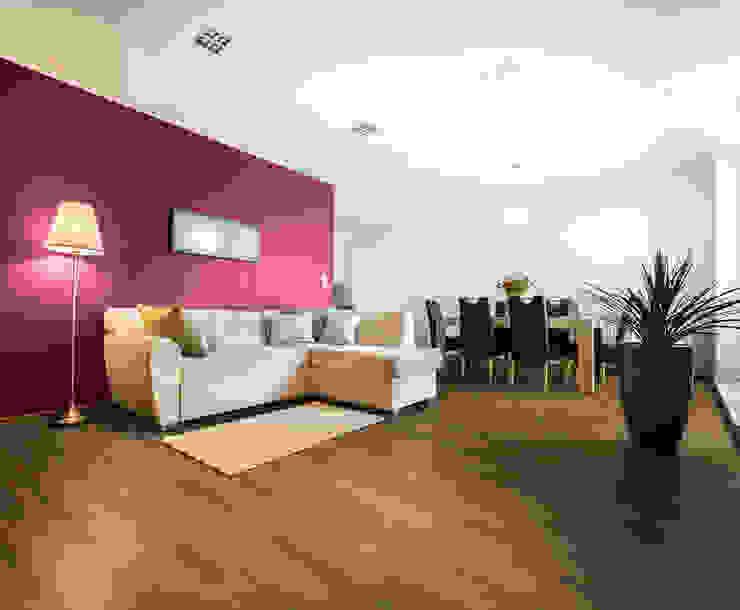 Salas / recibidores de estilo  por VIER ABINET S.A. Pisos & Decks, Moderno Derivados de madera Transparente