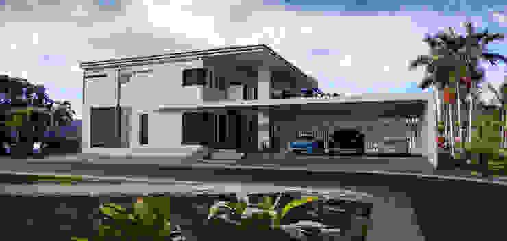 ผลงานออกแบบบ้านพักอาศัย 2 ชั้น Modern Style by KL-Cons. โดย บริษัท เค.แอล.คอนสตรัคชั่น แอนด์ ซัพพลาย จำกัด โมเดิร์น