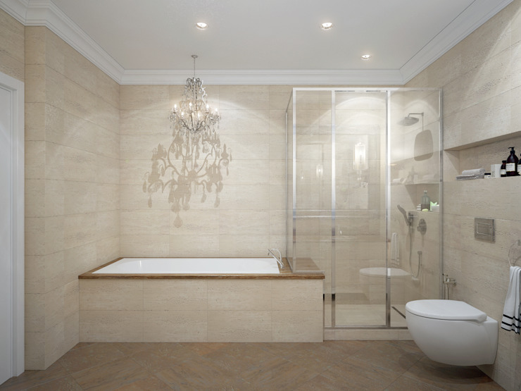 apartments in Moscow Modern Bathroom by Rubleva Design Modern