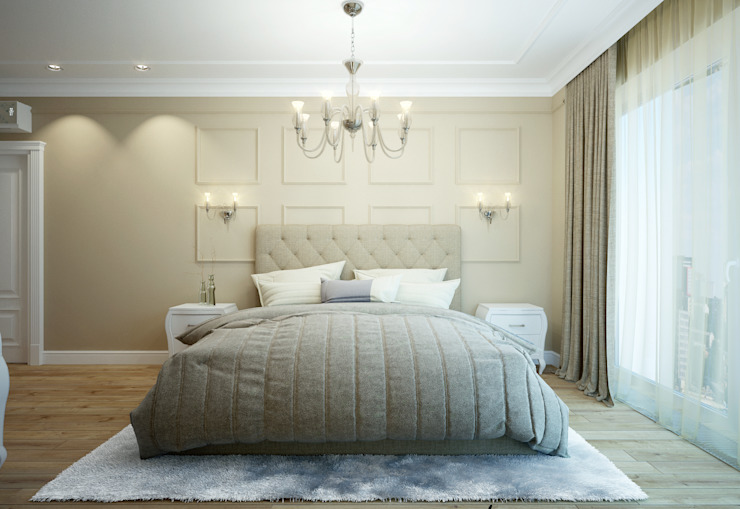 Modern style bedroom by design studio by Mariya Rubleva Modern