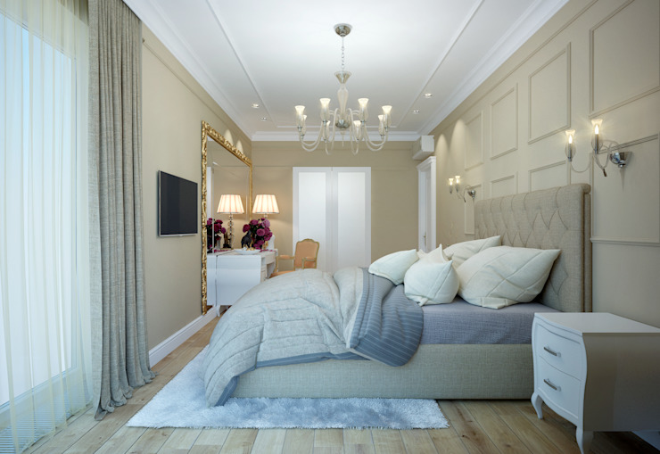 apartments in Moscow Modern Bedroom by Rubleva Design Modern
