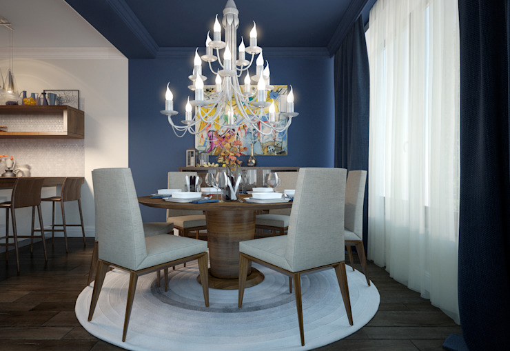 Dining room by design studio by Mariya Rubleva,