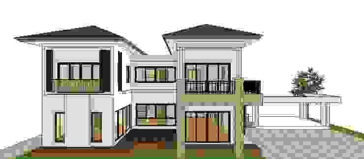 ผลงานออกแบบบ้านอาศัย 2 ชั้น Contemporary Style by KL-Cons. โดย บริษัท เค.แอล.คอนสตรัคชั่น แอนด์ ซัพพลาย จำกัด ทรอปิคอล