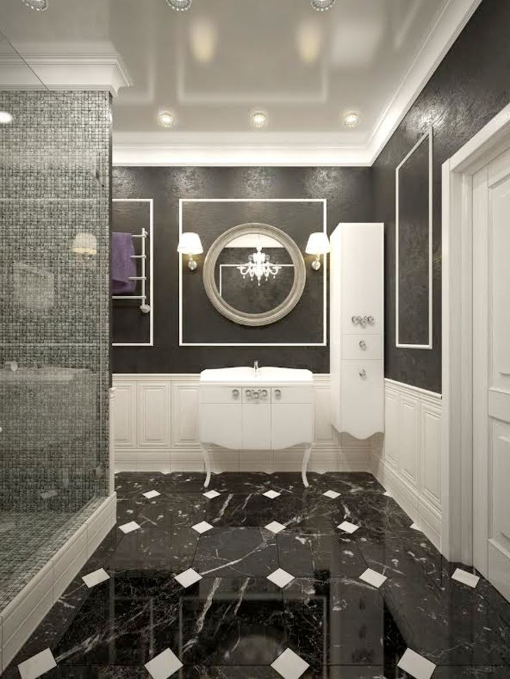 apartments in a classic style in Moscow Modern Bathroom by Rubleva Design Modern