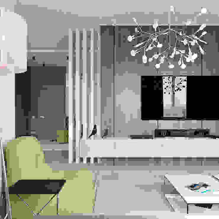 Студия Антона Сухарева 'SUKHAREVDESIGN' Living room