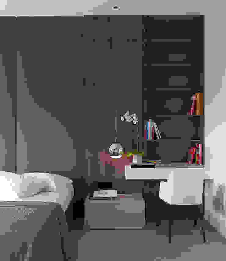 Студия Антона Сухарева 'SUKHAREVDESIGN' Minimalist bedroom