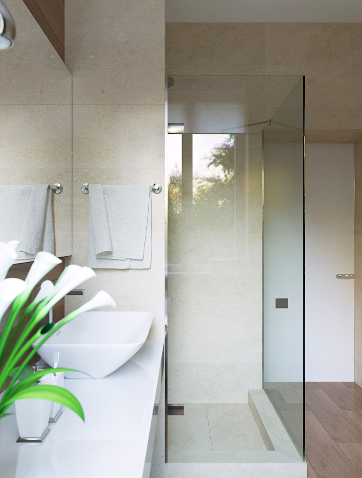 Студия Антона Сухарева 'SUKHAREVDESIGN' Minimalist style bathroom