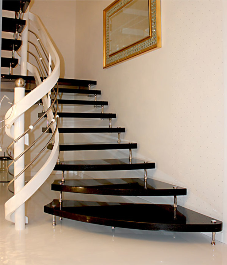 Country style corridor, hallway& stairs by Klepfer Naturstein GbR Country Granite