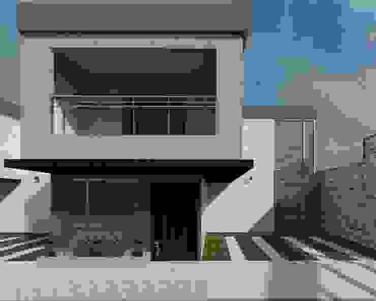 Vista de frente de la casa Diseño Store Casas de estilo minimalista Multicolor