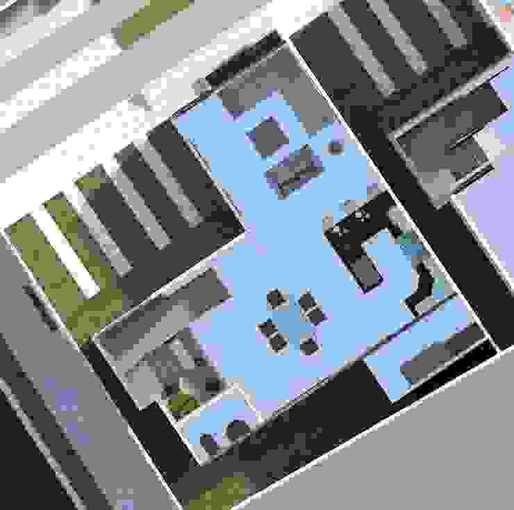 planta baja (visualización de espacios) Diseño Store Comedores de estilo minimalista