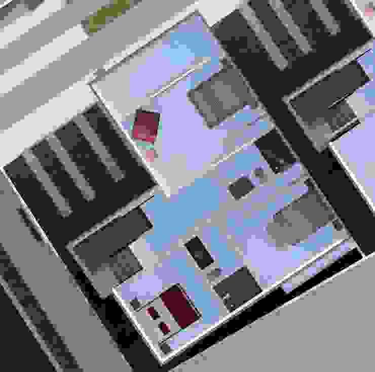 Planta alta (visualización de espacios) Diseño Store Cuartos de estilo minimalista