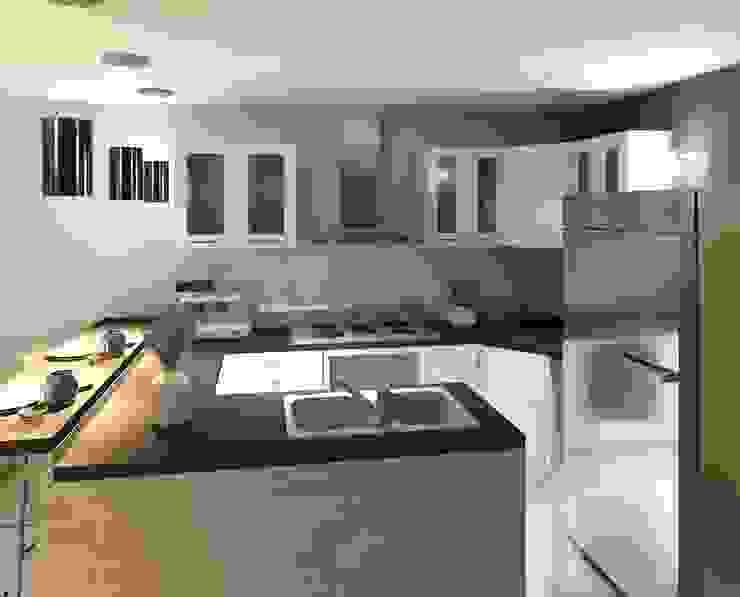 vista interna de la cocina Diseño Store Cocinas de estilo minimalista