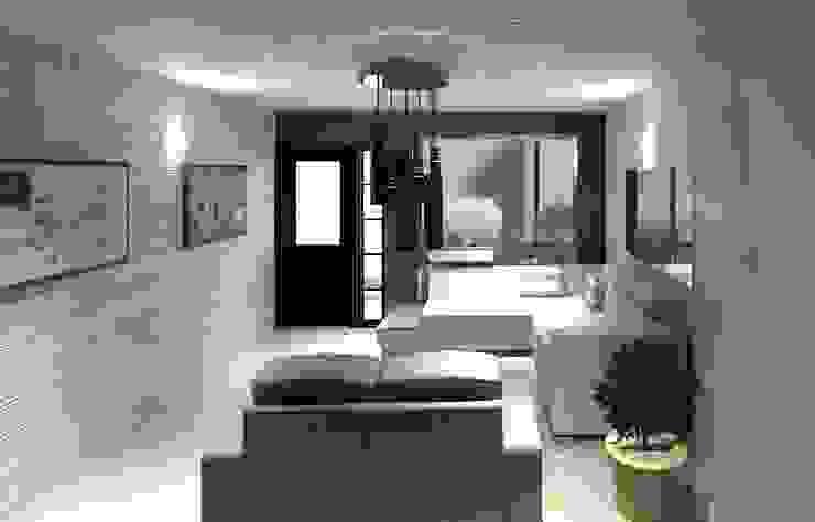 Vista interna de la sala Diseño Store Salas de estilo minimalista