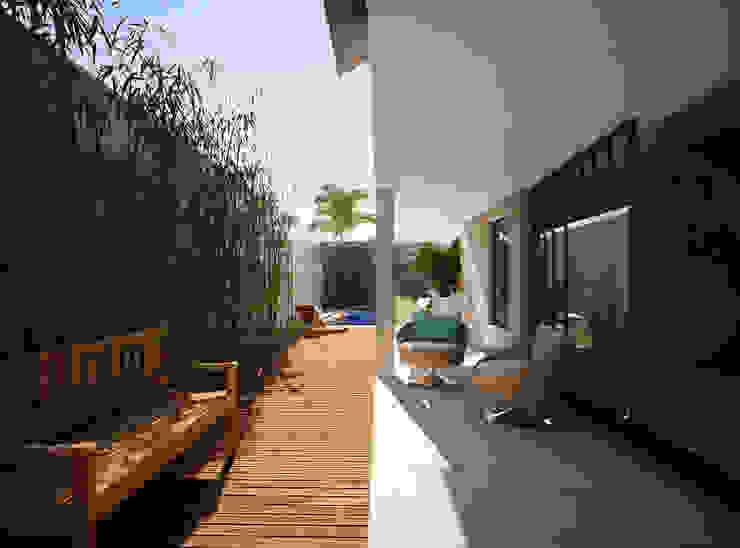 Lozí - Projeto e Obra Modern style balcony, porch & terrace