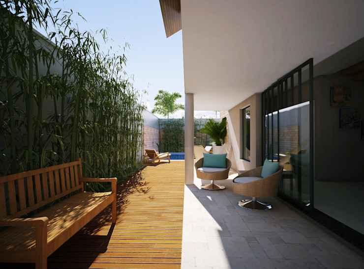 Lozí - Projeto e Obra Balcones y terrazas modernos