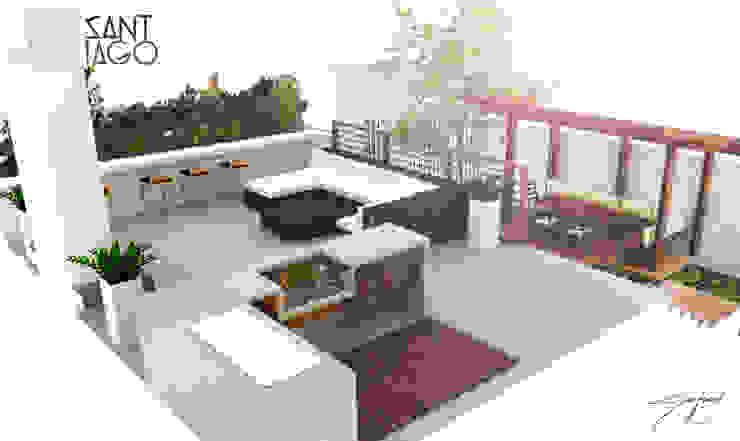 ミニマルデザインの テラス の SANT1AGO arquitectura y diseño ミニマル