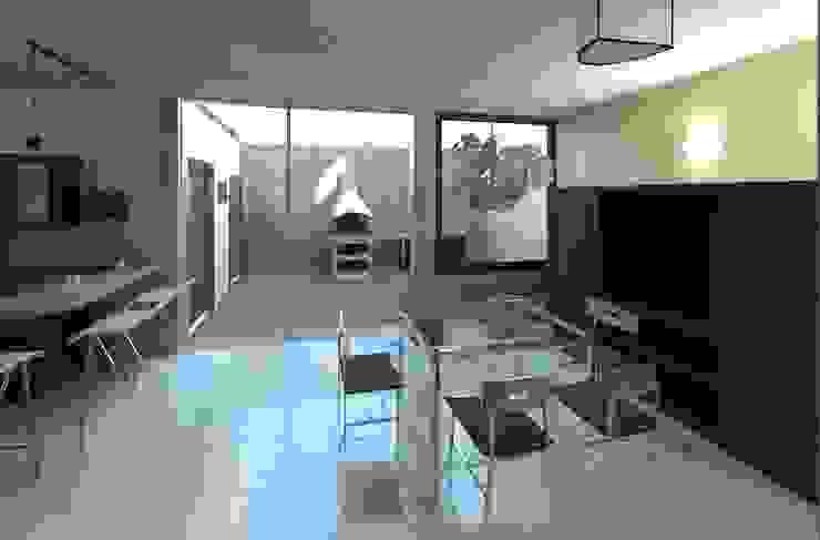 vista desde el comedor hacia el exterior:  de estilo  por Diseño Store