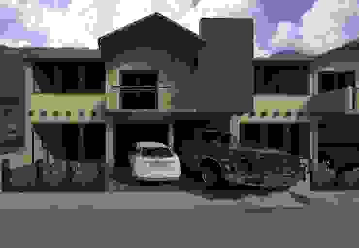 Fachada casa tipo thown house:  de estilo  por Diseño Store