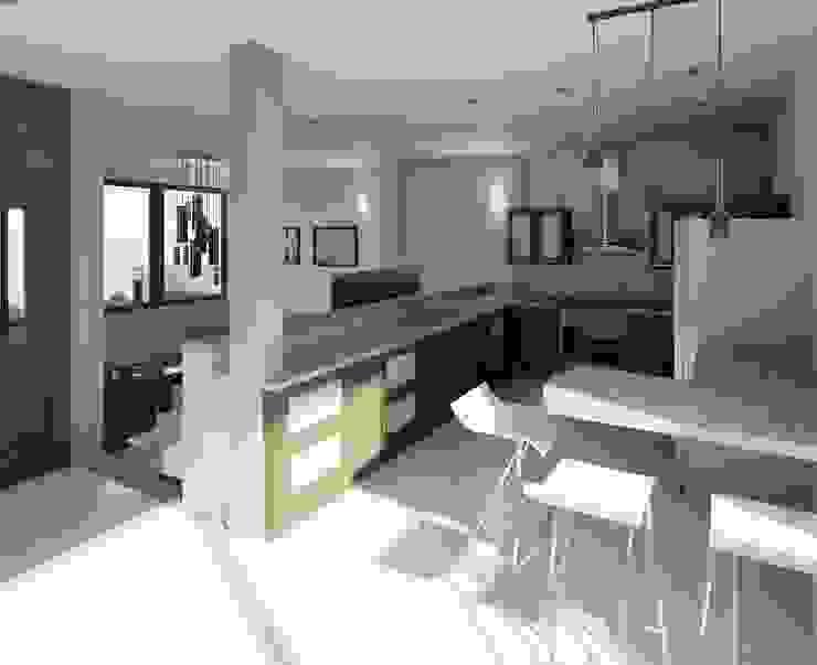 vista cocina y sala:  de estilo  por Diseño Store