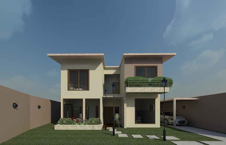 Fachada diurna Casas modernas de Diseño Store Moderno