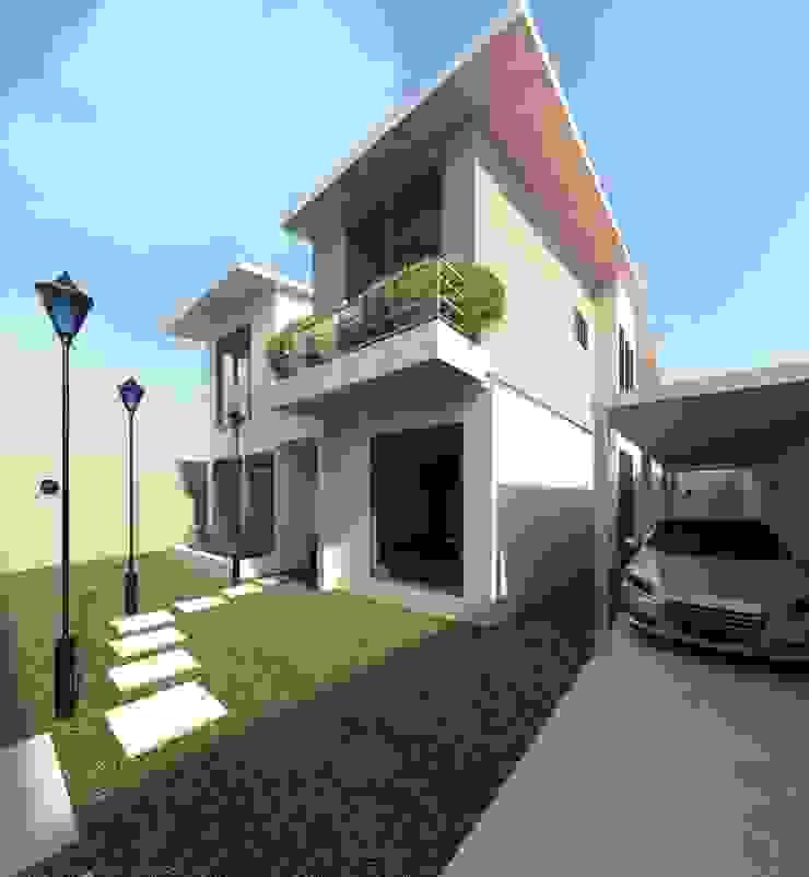 Vista diurna del acceso Casas modernas de Diseño Store Moderno