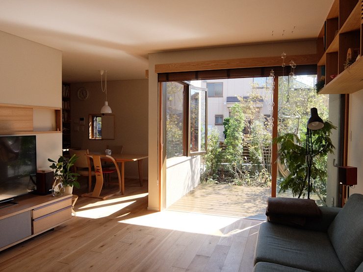 居間 有限会社 アンドウ・アトリエ オリジナルデザインの リビング