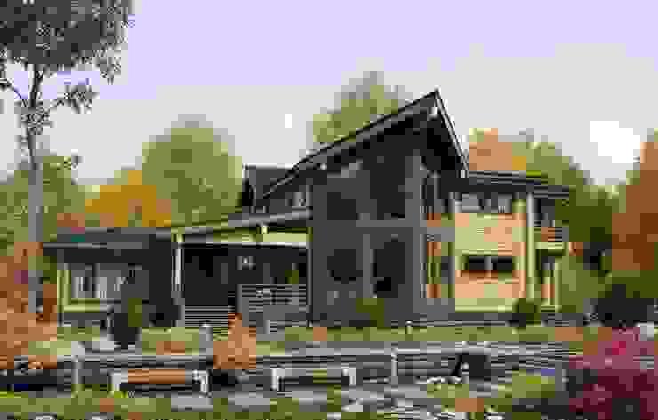 Индивидуальный дом 470 м² Дома в классическом стиле от GOOD WOOD Классический
