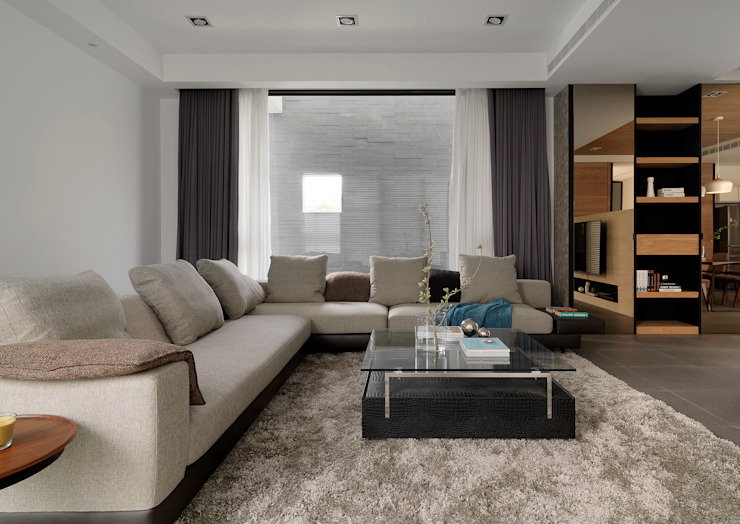 Living room by 夏沐森山設計整合,