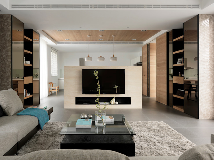 Salas de estar modernas por 夏沐森山設計整合 Moderno