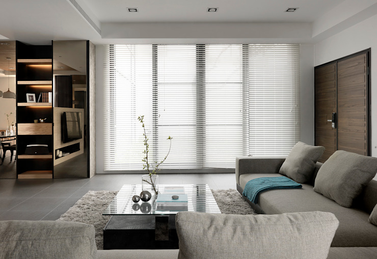 Four season house 现代客厅設計點子、靈感 & 圖片 根據 夏沐森山設計整合 現代風