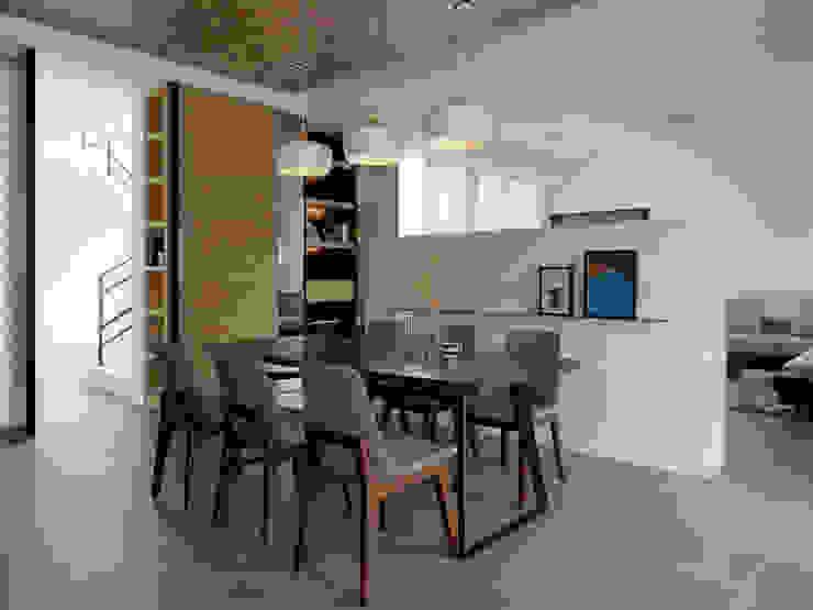 Ruang Makan oleh 夏沐森山設計整合, Modern