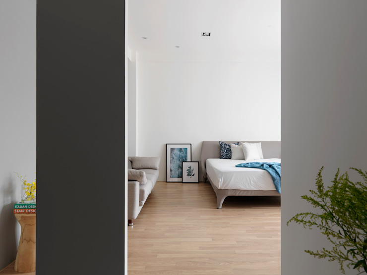 Kamar Tidur Modern Oleh 夏沐森山設計整合 Modern