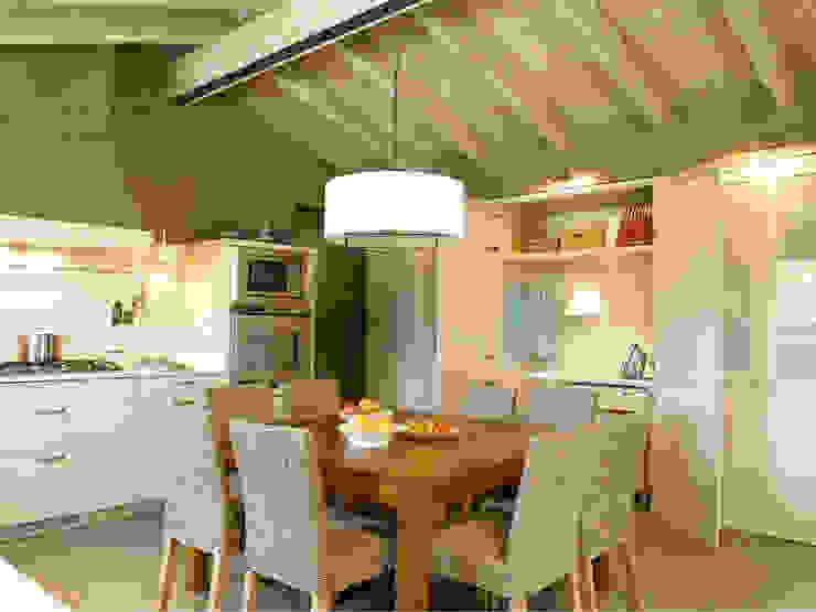 El planchador al descubierto Cocinas de estilo rústico de DEULONDER arquitectura domestica Rústico