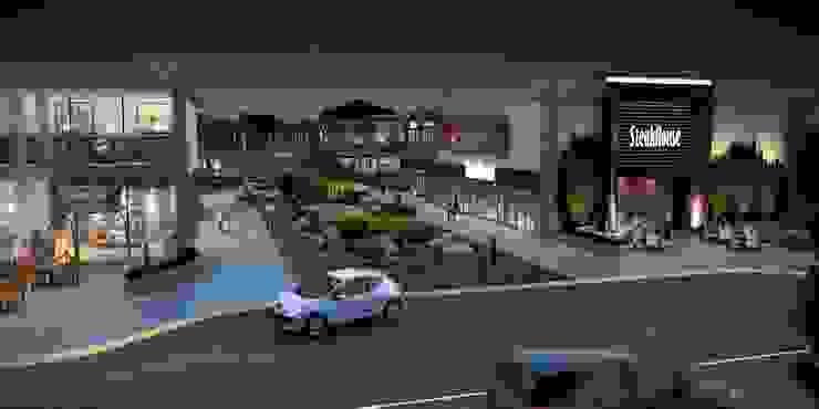 Drop-off área de restaurantes Segovia ARQ Centros comerciales de estilo moderno