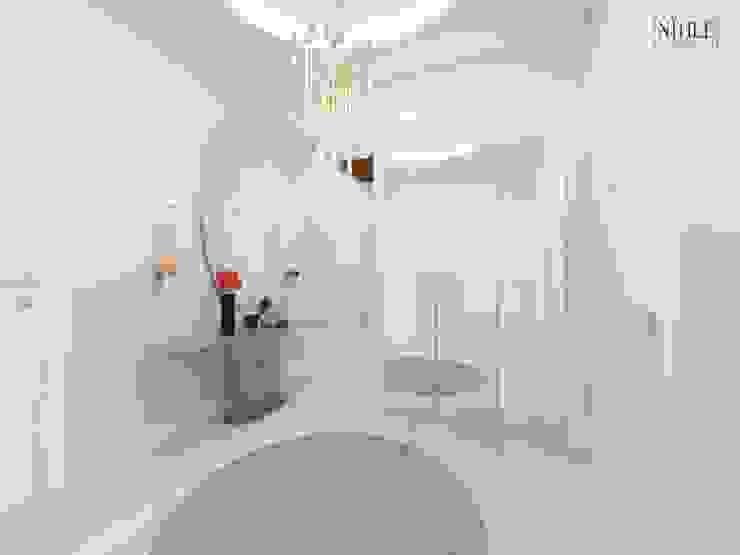 Modern corridor, hallway & stairs by nihle iç mimarlık Modern