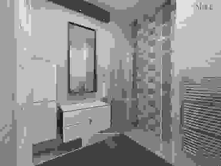 現代浴室設計點子、靈感&圖片 根據 nihle iç mimarlık 現代風