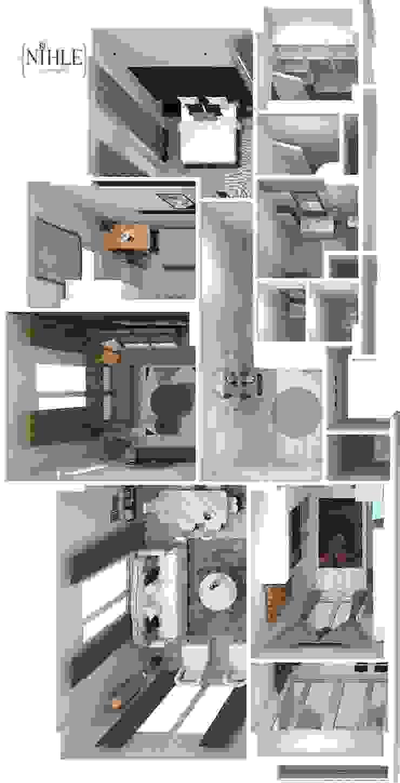 KONSEPT YAPI YILDIZ PARK ÖRNEK DAİRE Modern Evler nihle iç mimarlık Modern