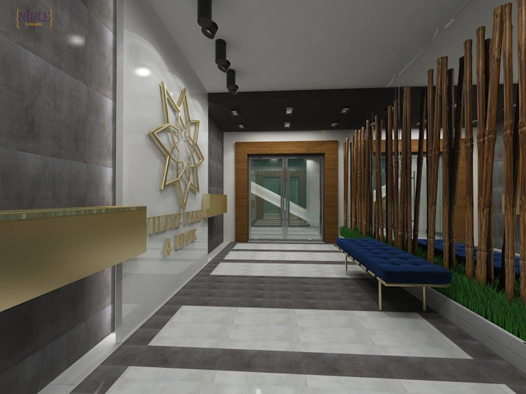 KONSEPT YAPI YILDIZ PARK ÖRNEK DAİRE Modern Koridor, Hol & Merdivenler nihle iç mimarlık Modern