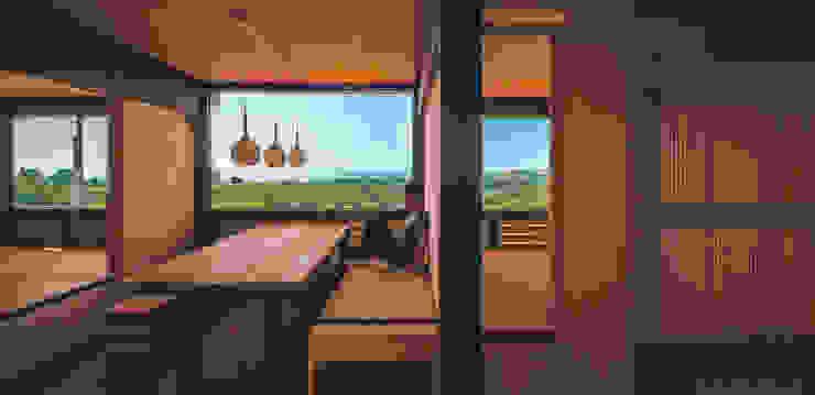 Phòng ăn phong cách kinh điển bởi FAMWOOD 自然紅屋 Kinh điển