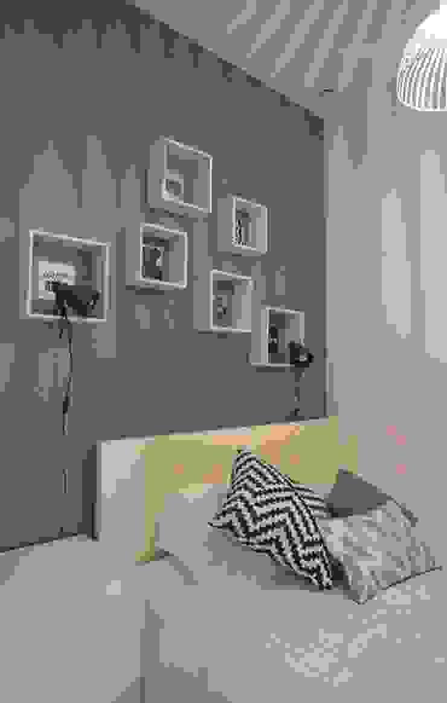 Aménagement D'un appartement LYON Chambre scandinave par AL Intérieurs Scandinave