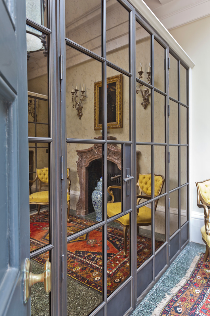 Bronze Screens with antique mirrored glazing Architectural Bronze Ltd Вікна & Дверi Двері Мідь / Бронза / Латунь Коричневий