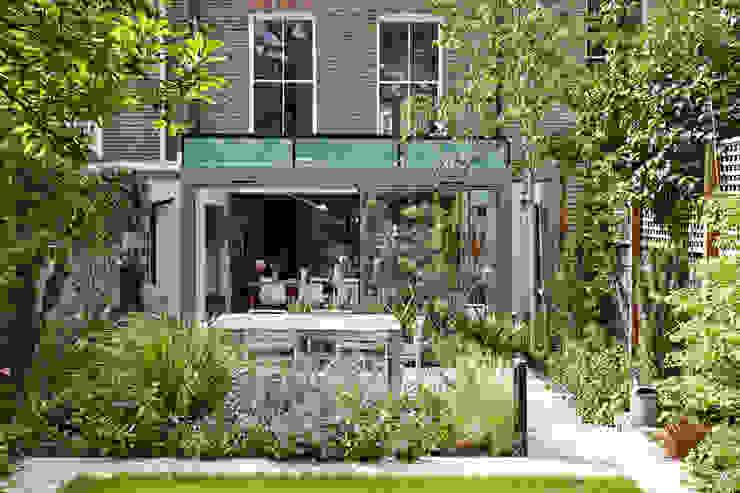 Rear Glass Extension Trombe Ltd Modern Houses Glass Grey