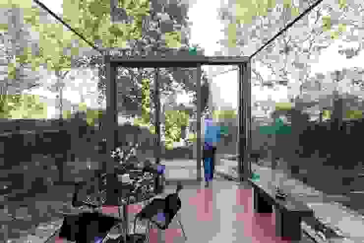 Frameless Glass Box Extension Trombe Ltd Modern Garden