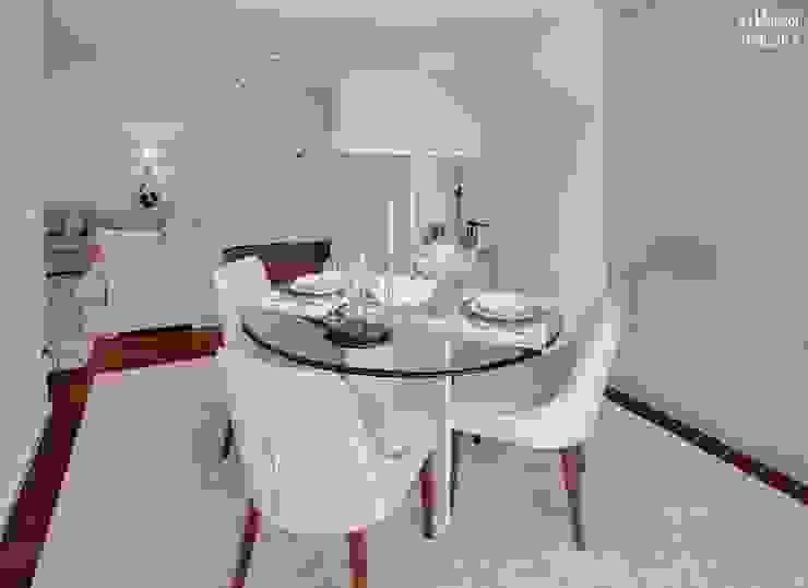 Столовая комната в стиле минимализм от B.loft Минимализм