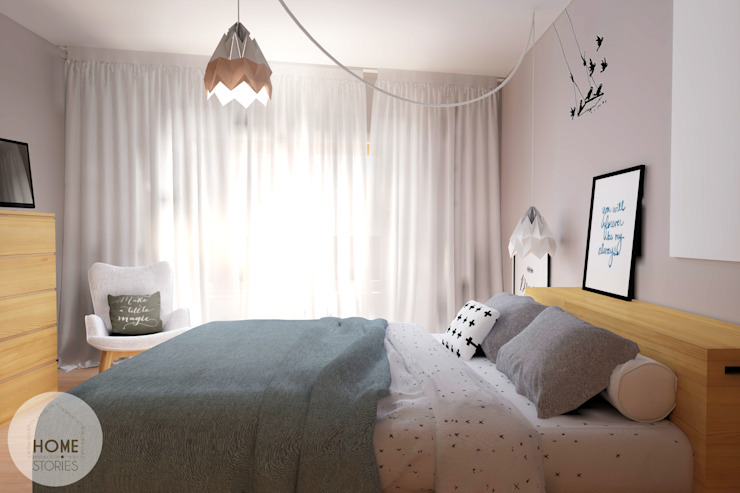 Scandinavische slaapkamers van homify Scandinavisch