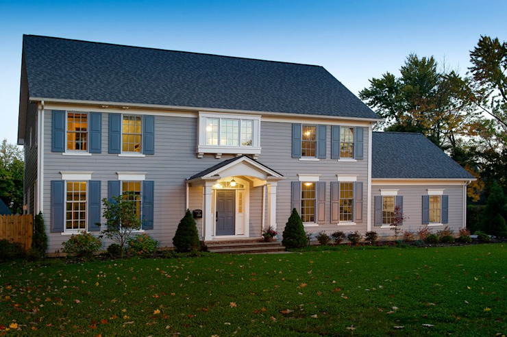 Shaker Heights Colonial style house by New Leaf Home Design Colonial